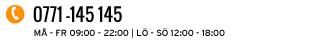 Öppettider må-fr 9-22, lö-sö 12-18
