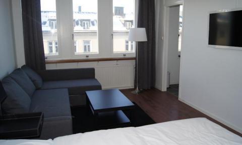 Lägenhet med 1 sovrum och bäddsoffa (non-refundable)