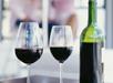 Flaska vin på rummet
